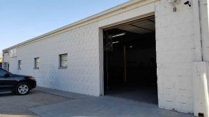 Drop off door outside Heartland Recycling Services disposal center