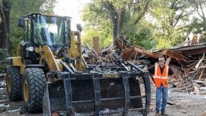 Structural demolition of home provided by Heartland Recycling Services