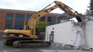 Tearing down commercial building